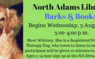 North Adams Library Dog Reading