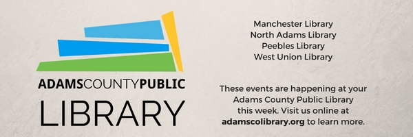 Events at the Adams County Public Library from October 15 - 18.