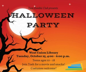 Teen Halloween Party @ West Union Library | West Union | Ohio | United States