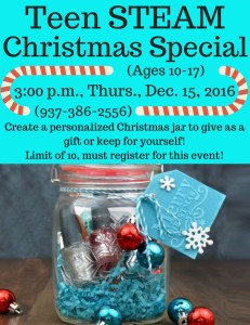 Teen Christmas Special @ North Adams Library | Seaman | Ohio | United States
