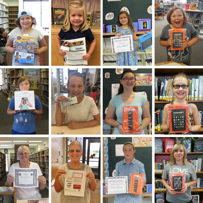 2017 Summer Reading Grand Prize Winners