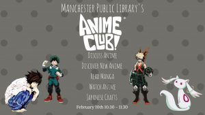 Anime Club @ Manchester Library | Manchester | Ohio | United States