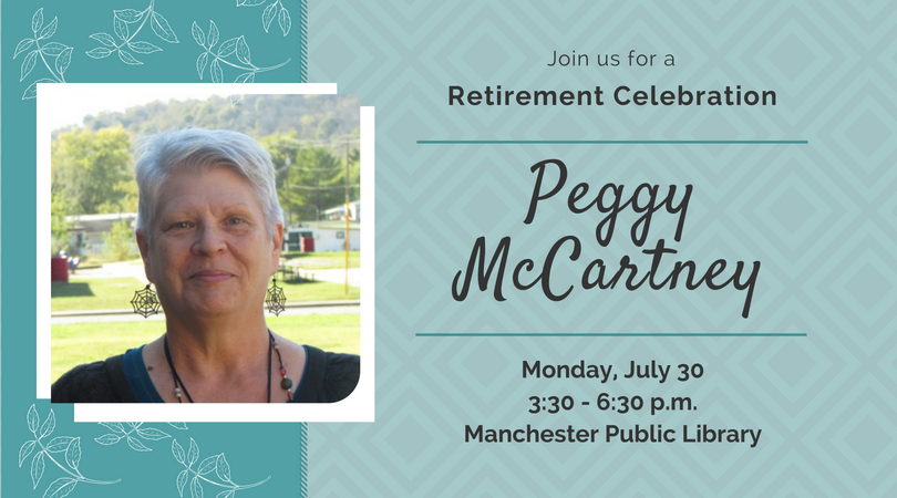 Peggy Retiring from Manchester Library