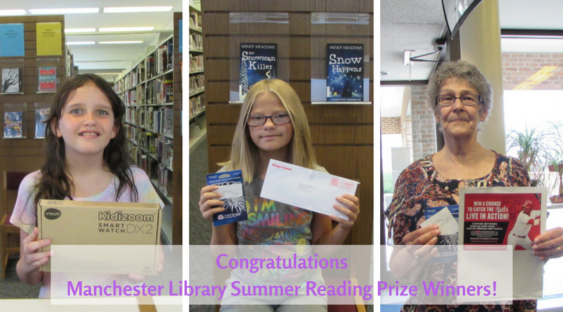 2018 Manchester Library Summer Reading Grand Prize Winners