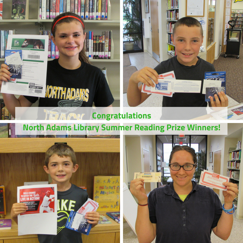 2018 North Adams Library Summer Reading Grand Prize Winners