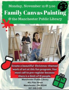 Family Canvas Painting @ Manchester Library | Manchester | Ohio | United States