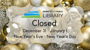 Closed New Year @ Adams County Public Library
