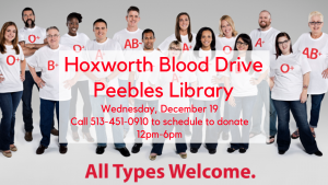 Blood Drive @ Peebles Library