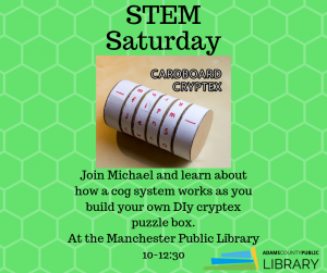 STEM Saturday @ Manchester Library