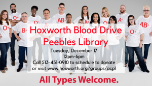 Hoxworth Blood Drive @ Peebles Library