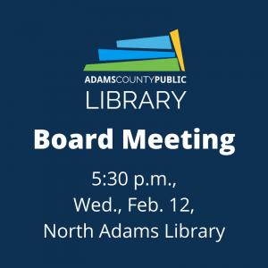Board Meeting @ North Adams Library