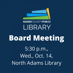Board Meeting @ North Adams Library
