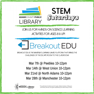 STEM Saturday @ West Union Public Library
